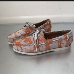 Polo Ralph Lauren Merton Suede Boat Shoes Orange